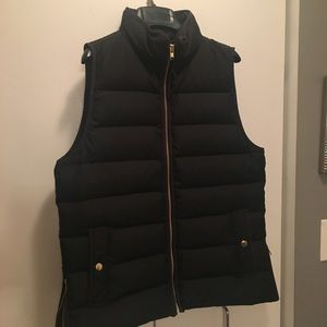 J.Crew Mountain Puffer Black Vest